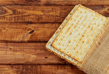 Jewish passover holiday pesah celebration matzah bread Stock Photo