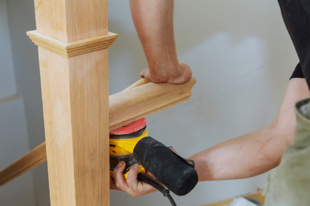How to sanding a wooden handrails railing installation for wooden