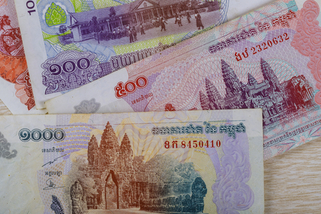 Money used in Cambodia financial conceptual front side 版權商用圖片