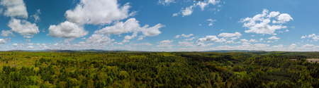 Panoramic view of beautiful landscape Pocono Mountains Pennsylvania USA 免版税图像