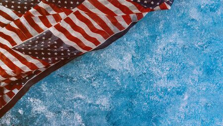Independence day closeup of flag of the United States of America for Memorial Day 免版税图像