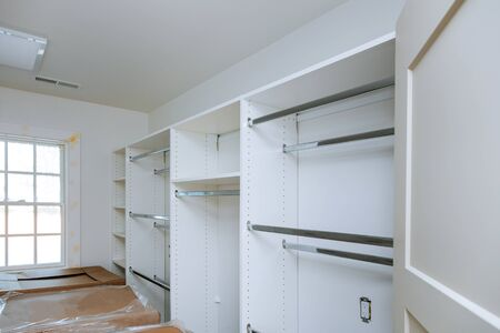 Furniture installation of shelves with a shelf new home construction of interior room