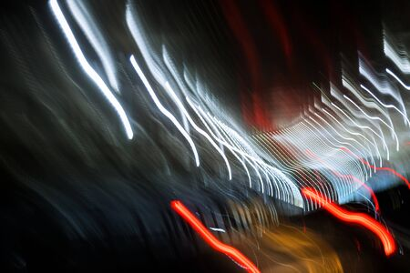 Colored abstract with special fantastic light effect on black background