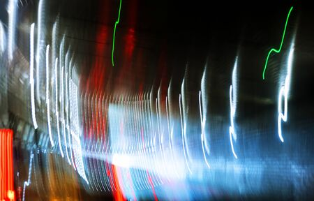 Colorful abstract of lasers rays on a dark background Banque d'images - 129460410