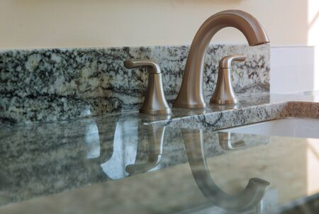 Ceramic with sink and faucet modern bathroom counter tap