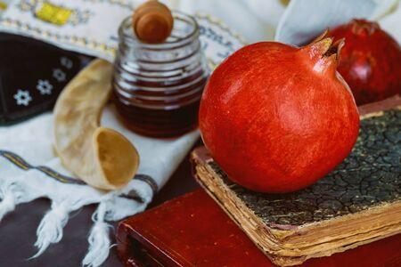 Jewish Holiday Yom Kippur and Rosh Hashanah jewish New Year holiday traditional symbols