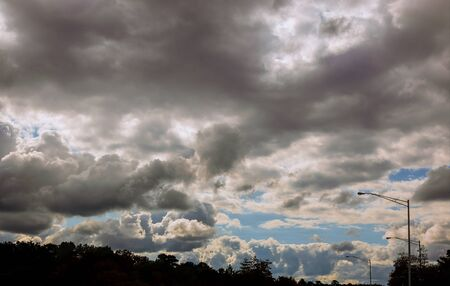Dramatic stormy clouds dark clouds before a thunderstorm Banco de Imagens - 130814479