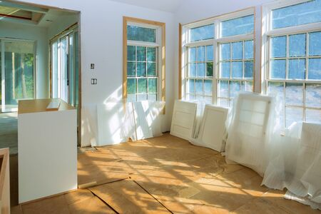 Preparation for installation for under construction, remodeling, renovation, extension restoration and reconstruction door