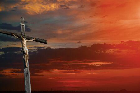 Christian cross on sunset sky religion world christian cross of Jesus Christ