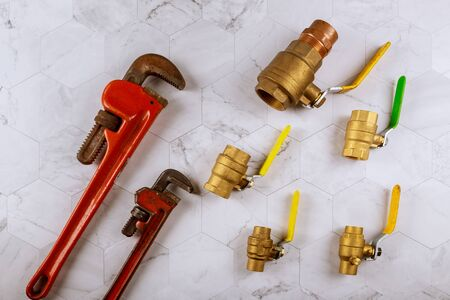 Monkey wrench adjustable and plumbing gate ball vales fittings for plumbing taps