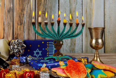 Jewish Holiday symbol Star of David Hanukkah menorah Hanukkah, the Jewish Festival of Lights