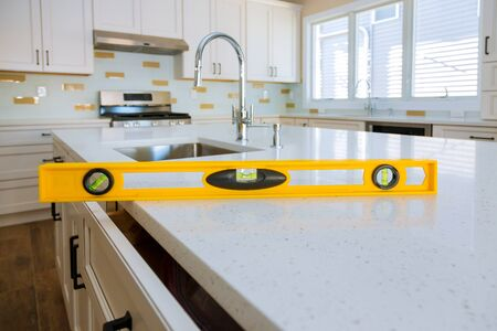 Leveling with countertops a sink in the kitchen cabinet home improvement kitchen