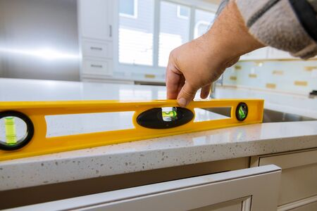 Leveling with countertops of making a kitchen modern domestic cabinets