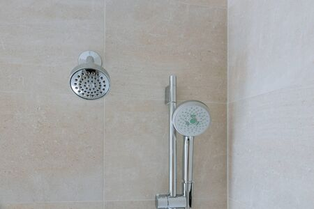 Bathroom wall new shower head in the elegant stainless steel shower head