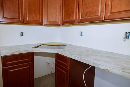 Installing a new laminate kitchen counter top