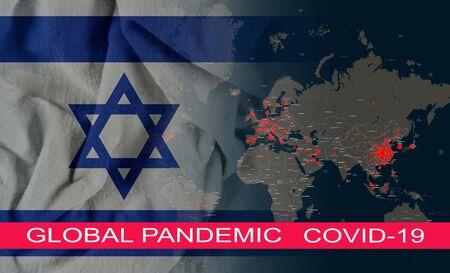 Baned travels quarantine global pandemic corona virus with COVID-19 Coronavirus chinese infection of the Israel