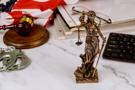 Legal law, advice Judge gavel with Statue of Justice with scales Justice lawyer consultation law justice service