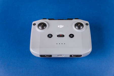 Los Angeles CA US 16 MAY 2020: New DJI Mavic Air 2 drone by DJI with new style beautiful remote controller