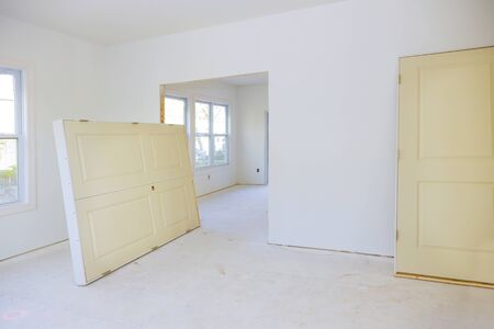 A interior wooden doors a wait installation for new home