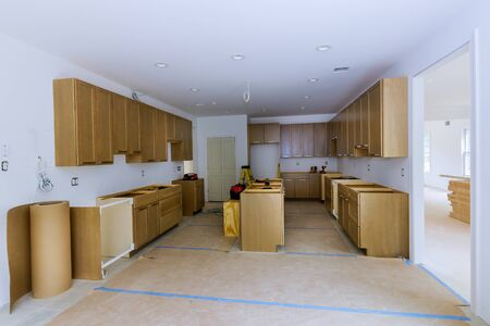 Remodel beautiful furniture the drawer in cabinet view installed in a wooden fronts assembling new kitchen