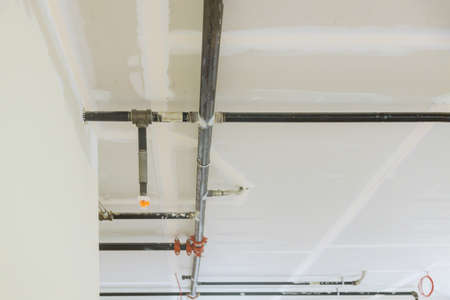 Ceiling mounted automatic head fire extinguisher system of safety fighting equipment sprinkler on ceiling selected focus sprinkler