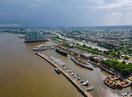 Panoramic view of Philadelphia, Pennsylvania on river USA downtown skyline