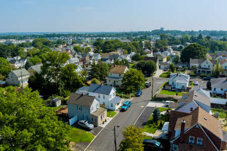 Sayreville NJ town aerial panoramic view is a small town in USA