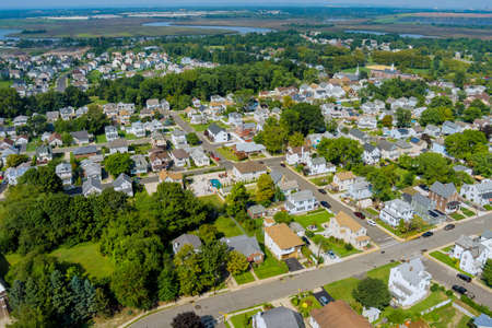 View of the small provincial American town in Sayreville New Jersey USA