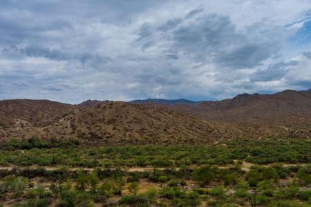 Amazing beautiful aerial view panoramic landscape in valley Arizona
