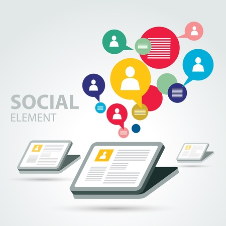 nettop: social icon group element