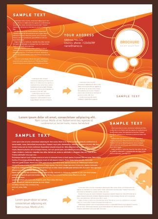 brochure folder globe element design