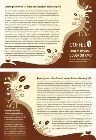 brochure folder coffee beans element design Vectores
