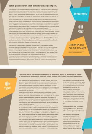 business brochure design template Vectores