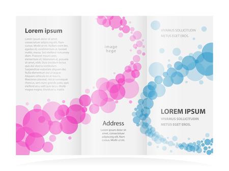 brochure design template circles