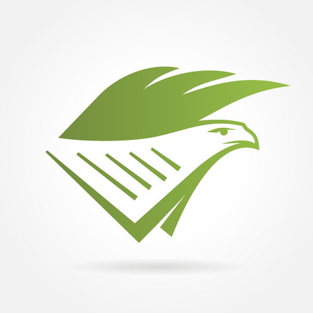 accountancy: eagle text book shield symbol emblem sign