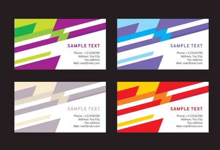 abstract creative business card line colorful template vector