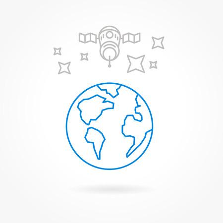 satellite icons Vectores