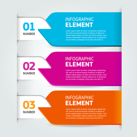 Moderne nummerlijst infographics banner Stock Illustratie