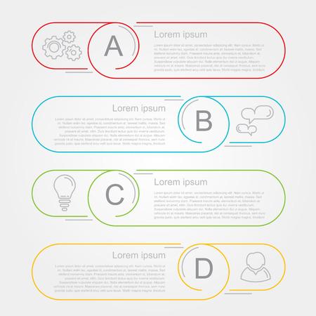 moderne nummerlijst infographic banner cirkels