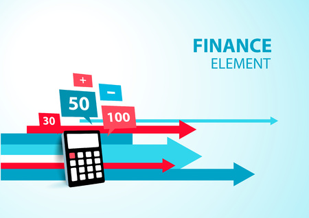 finance element arrow calculator icon blue