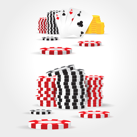 casino chips money cards game set