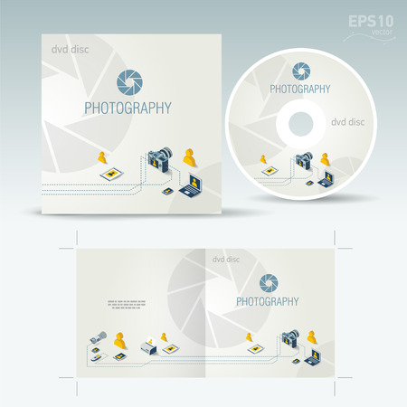 cd disc cover photography photo camera professional element icons Vectores