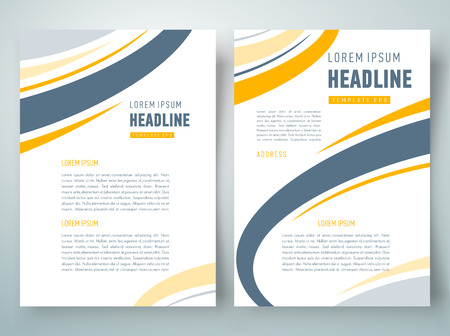 flyer brochure design template abstract curves