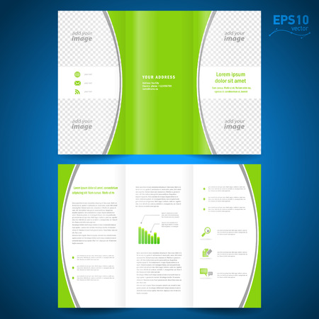 brochure green curve bend line white background