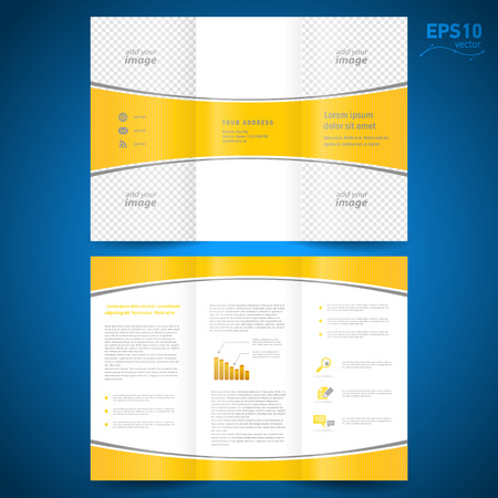 bend: brochure perspective yellow curve bend line white background