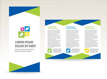 brochure folder triangles design / cmyk