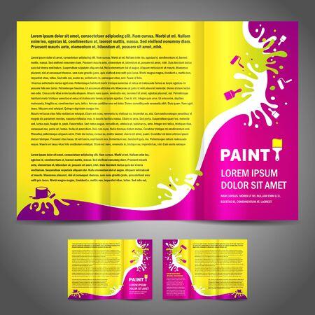 brochure folder paint colorful element design colorful Vectores