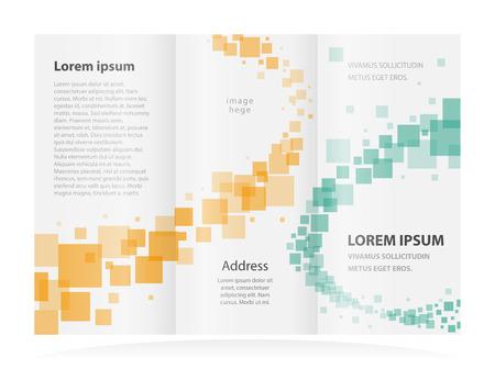 threefold: brochure design template Illustration