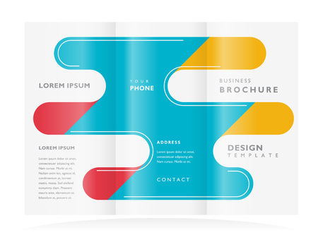 brochure design template leaflet abstract