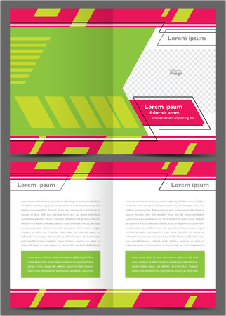 brochure design booklet template vector geometric abstract tech